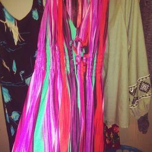 Beautiful colorful floor length dress